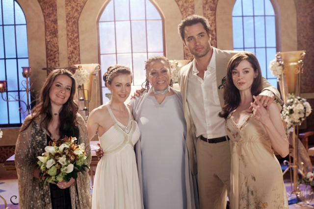 Foto Alyssa Milano, Denise Dowse, Holly Marie Combs, Rose McGowan, Victor Webster