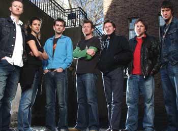 Foto Adrian Bower, Adrian Dunbar, Andrew Tiernan, David Tennant, Indira Varma