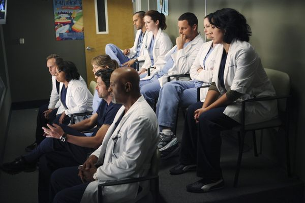 Anatomía de Grey : Foto Chandra Wilson, Chyler Leigh, Ellen Pompeo, James Pickens Jr., Jesse Williams
