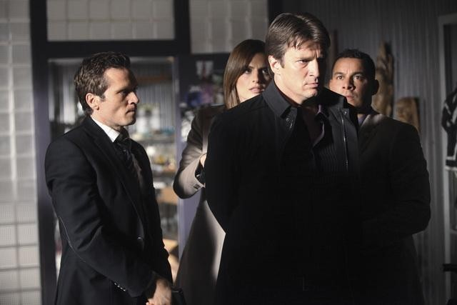 Castle : Foto Jon Huertas, Nathan Fillion, Seamus Dever, Stana Katic
