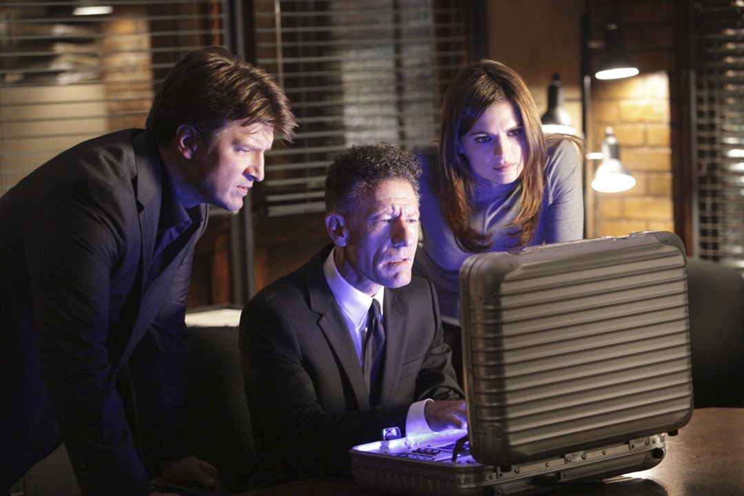 Castle : Foto Lyle Lovett, Nathan Fillion, Stana Katic