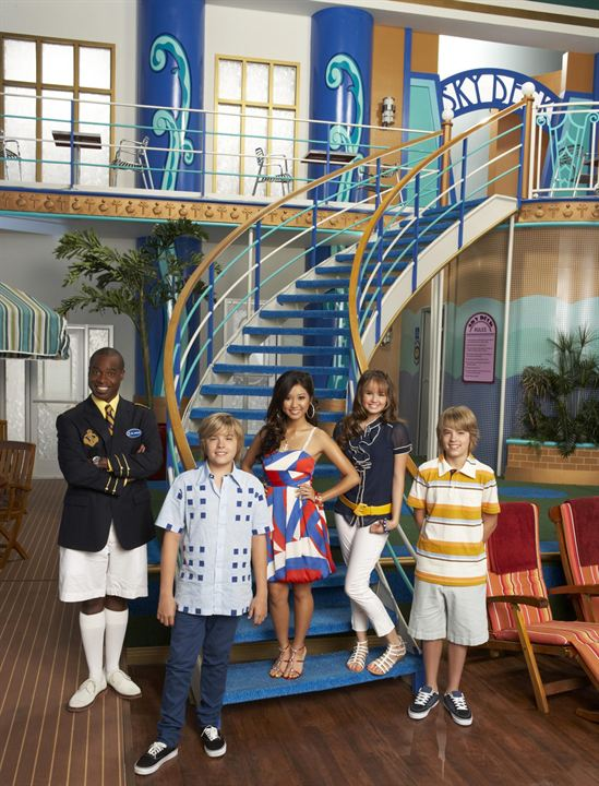 Todos a bordo : Foto Brenda Song, Cole Sprouse, Debby Ryan, Dylan Sprouse, Phill Lewis