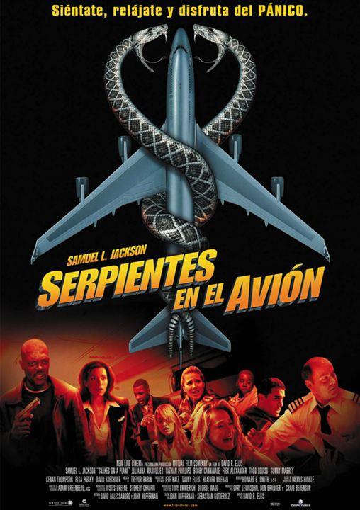 Serpientes en el avión : Cartel