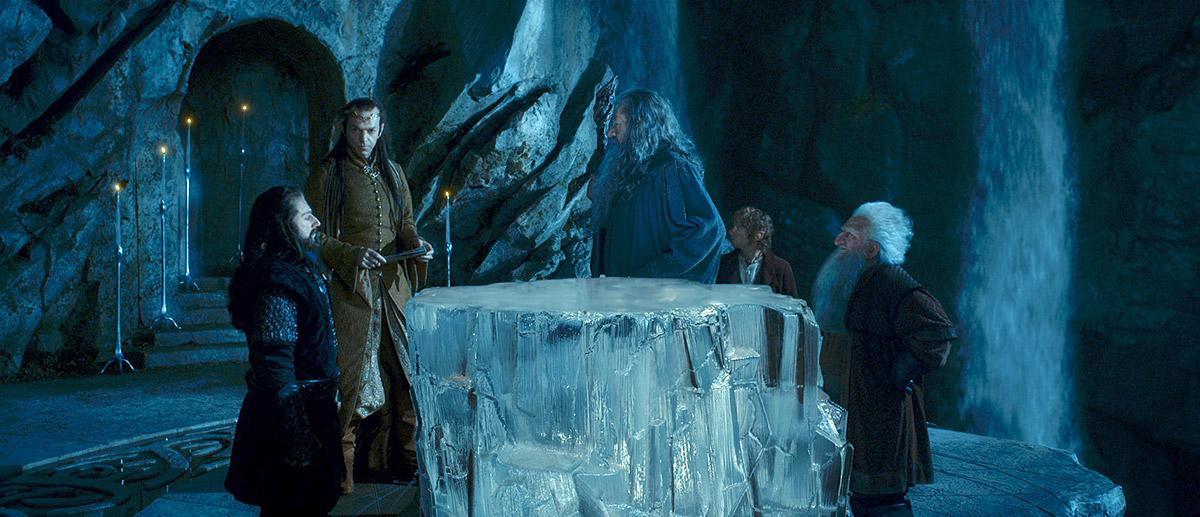 El Hobbit: Un viaje inesperado : Foto Hugo Weaving, Ian McKellen, Martin Freeman, Richard Armitage