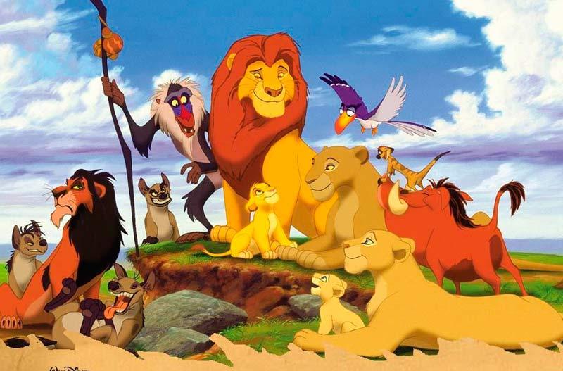 Simba y su tío Scar