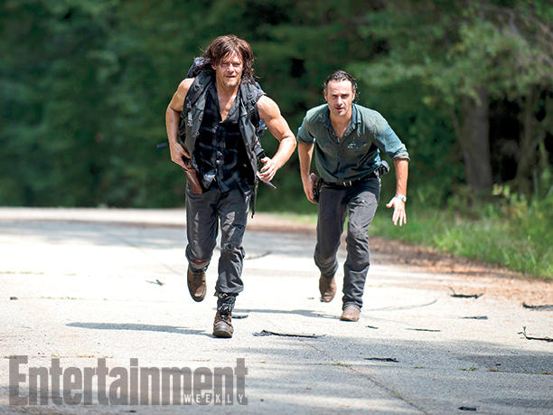 Daryl (Norman Reedus) y Rick (Andrew Lincoln).