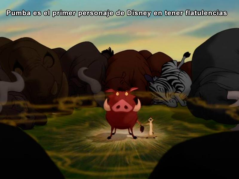 Pumba es el primer personaje de Disney en tener flatulencias