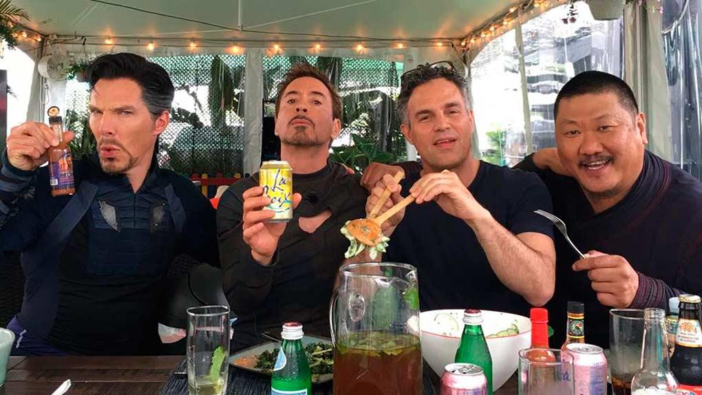 Benedict Cumberbatch, Robert Downey Jr, Mark Ruffalo y Benedict Wong