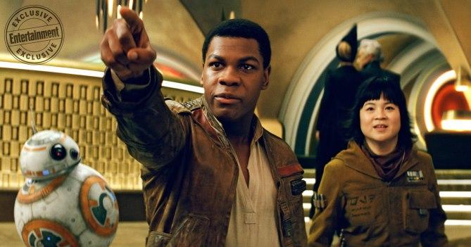 BB-8, Finn y Rose Tico