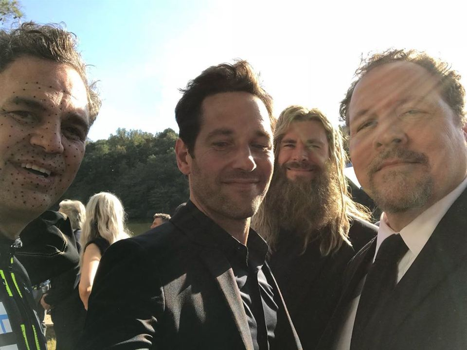 Mark Ruffalo, Paul Rudd, Chris Hemsworth y Jon Favreau