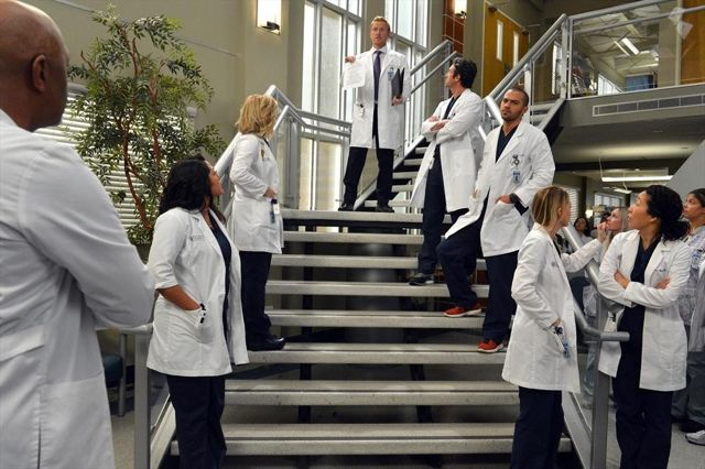 Foto Ellen Pompeo, James Pickens Jr., Jesse Williams, Jessica Capshaw, Kevin McKidd