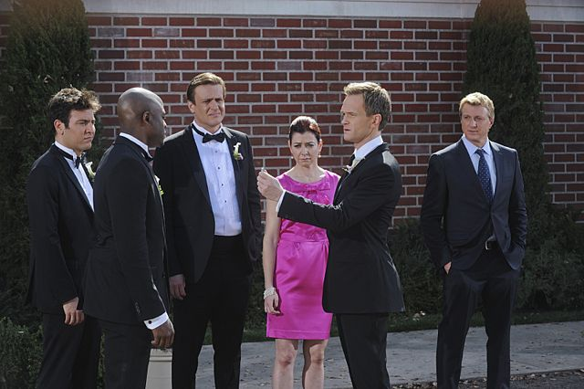 Foto Alyson Hannigan, Jason Segel, Josh Radnor, Neil Patrick Harris, William Zabka