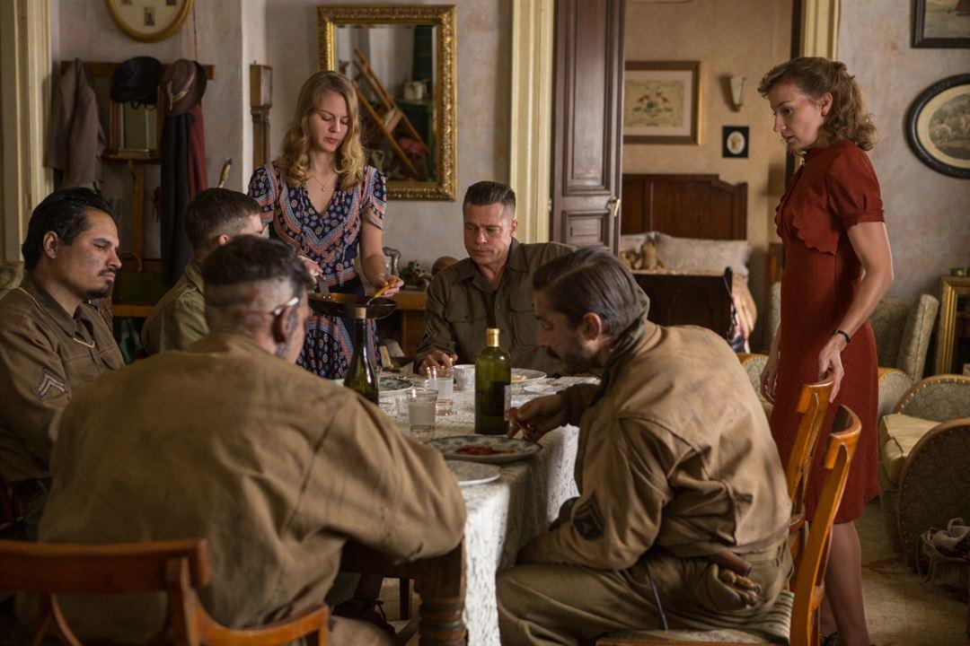 Corazones de acero : Foto Alicia von Rittberg, Brad Pitt, Logan Lerman, Michael Peña, Shia LaBeouf