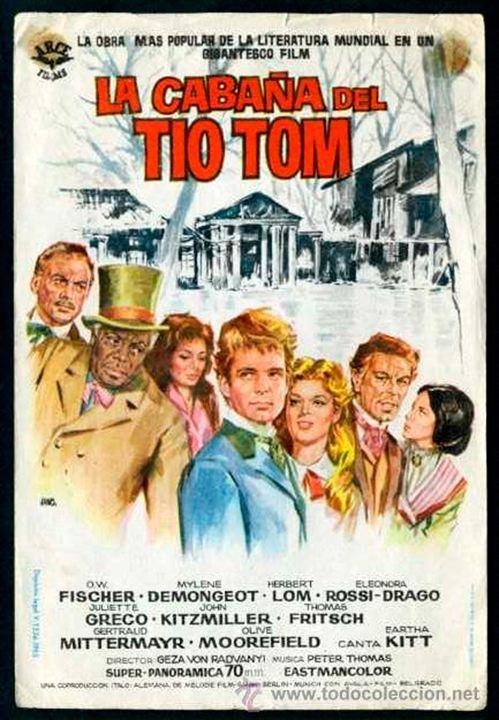 La cabaña del tio Tom : Cartel