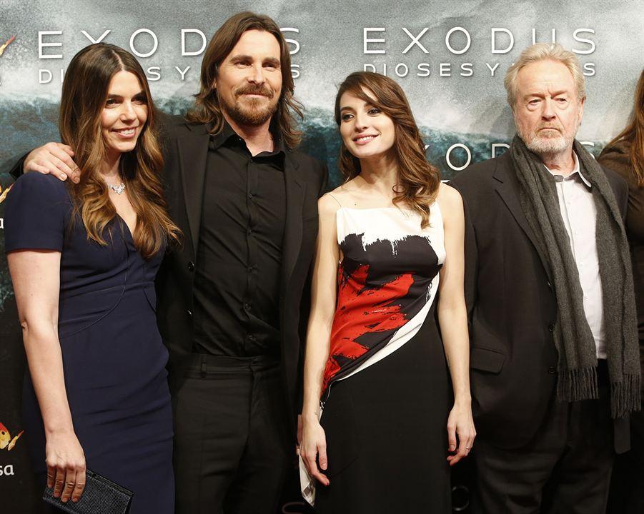 Exodus: Dioses y reyes : Couverture magazine Christian Bale, María Valverde, Ridley Scott