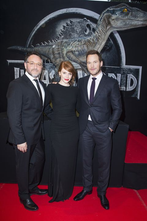 Jurassic World : Couverture magazine Bryce Dallas Howard, Chris Pratt, Colin Trevorrow