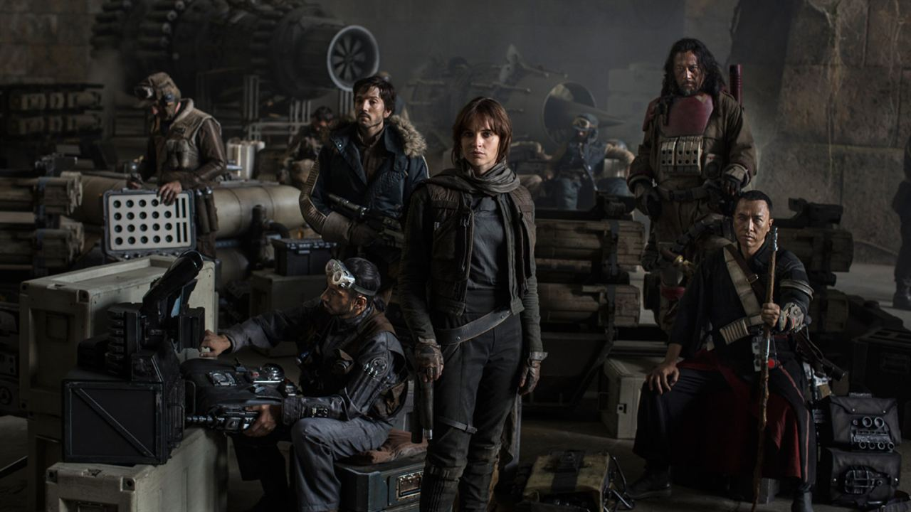 Rogue One: Una historia de Star Wars : Foto Diego Luna, Donnie Yen, Felicity Jones, Jiang Wen, Riz Ahmed