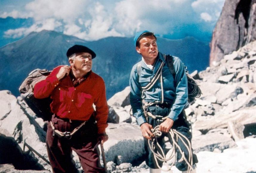 La montaña siniestra : Foto Robert Wagner, Spencer Tracy