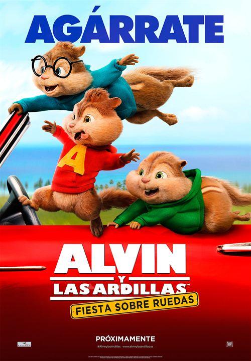 Alvin y las ardillas: Fiesta sobre ruedas : Cartel