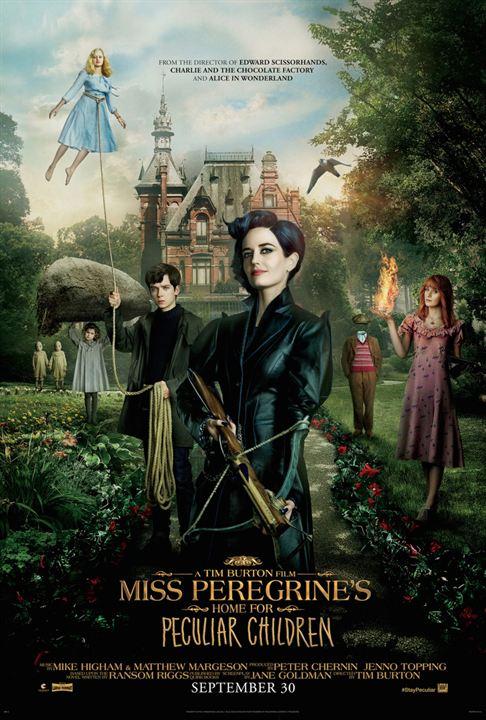 El hogar de Miss Peregrine para niños peculiares : Cartel
