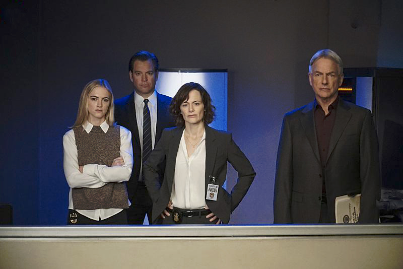 Foto Emily Wickersham, Mark Harmon, Michael Weatherly, Sarah Clarke