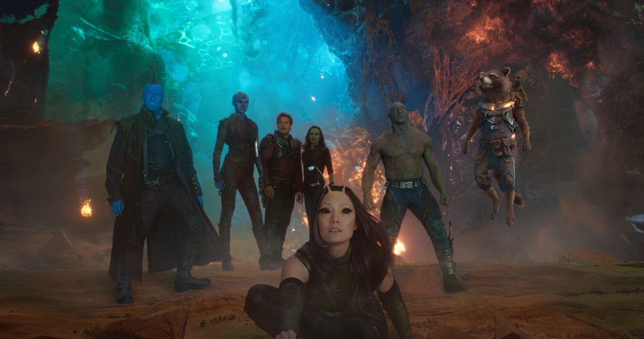 Guardianes de la Galaxia Vol. 2 : Foto Chris Pratt, Dave Bautista, Karen Gillan, Michael Rooker, Pom Klementieff