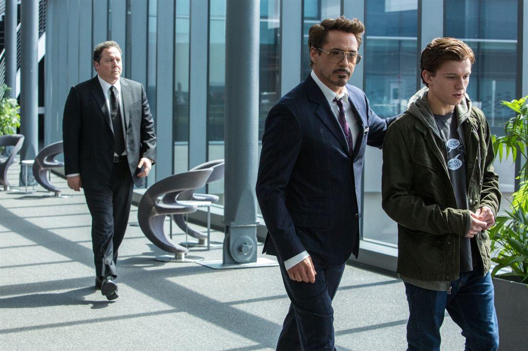 Spider-Man: Homecoming : Foto Jon Favreau, Robert Downey Jr., Tom Holland