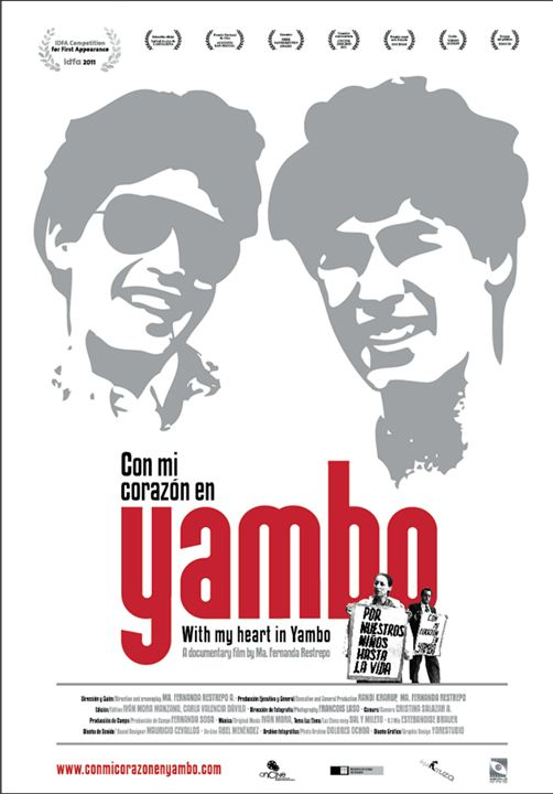 Con mi corazon en Yambo : Cartel