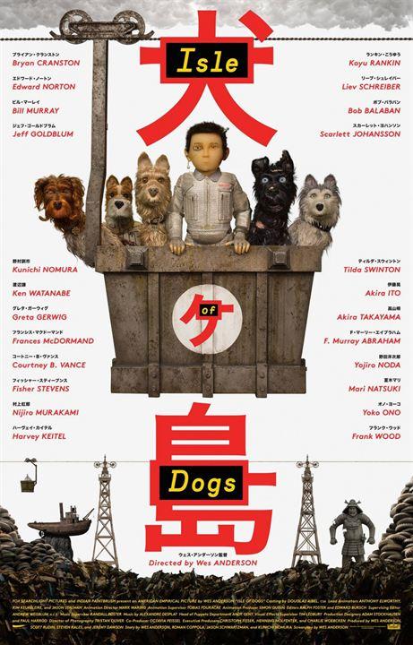 Isla de perros : Cartel