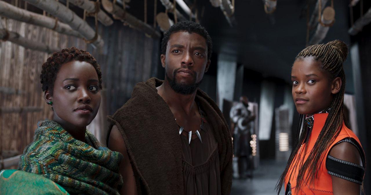Black Panther : Foto Chadwick Boseman, Letitia Wright, Lupita Nyong'o