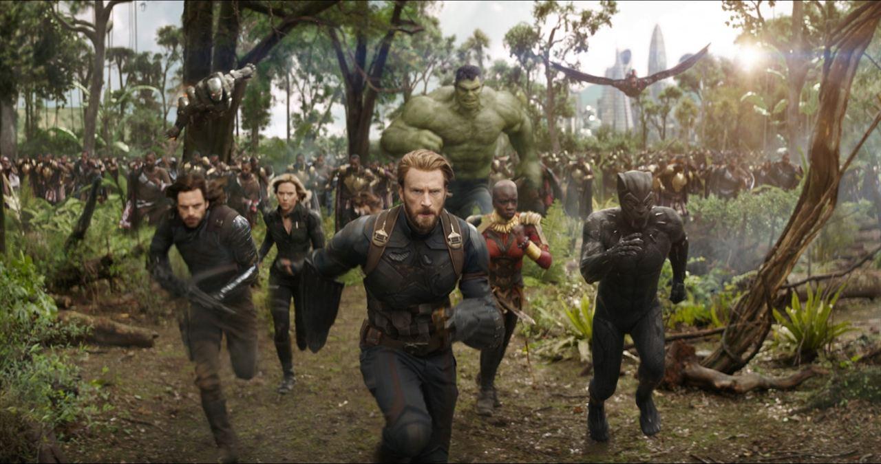 Vengadores: Infinity War : Foto Anthony Mackie, Chadwick Boseman, Chris Evans, Danai Gurira, Don Cheadle