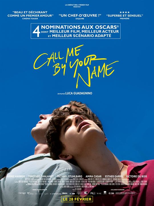 Call Me By Your Name : Cartel