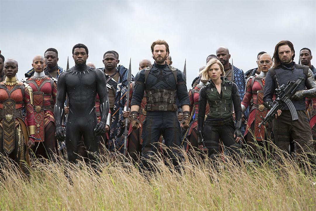 Vengadores: Infinity War : Foto Chadwick Boseman, Chris Evans, Danai Gurira, Scarlett Johansson, Sebastian Stan