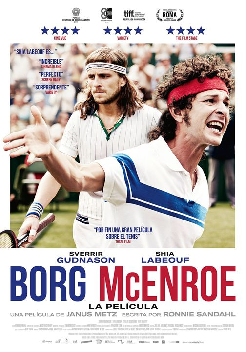Borg McEnroe. La película : Cartel