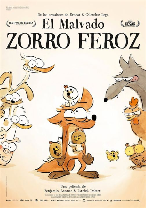 El malvado zorro feroz : Cartel