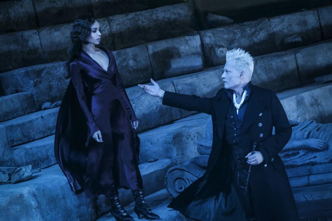 Animales fantásticos: Los Crímenes de Grindelwald : Foto Johnny Depp, Zoë Kravitz