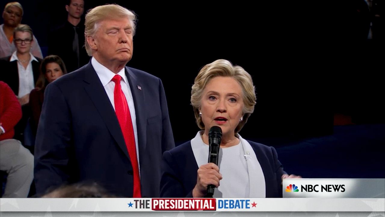 Fahrenheit 11/9 : Foto Donald Trump, Hillary Clinton