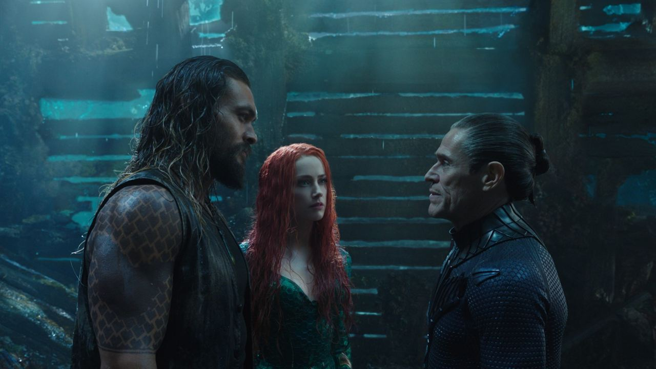 Aquaman : Foto Amber Heard, Jason Momoa, Willem Dafoe