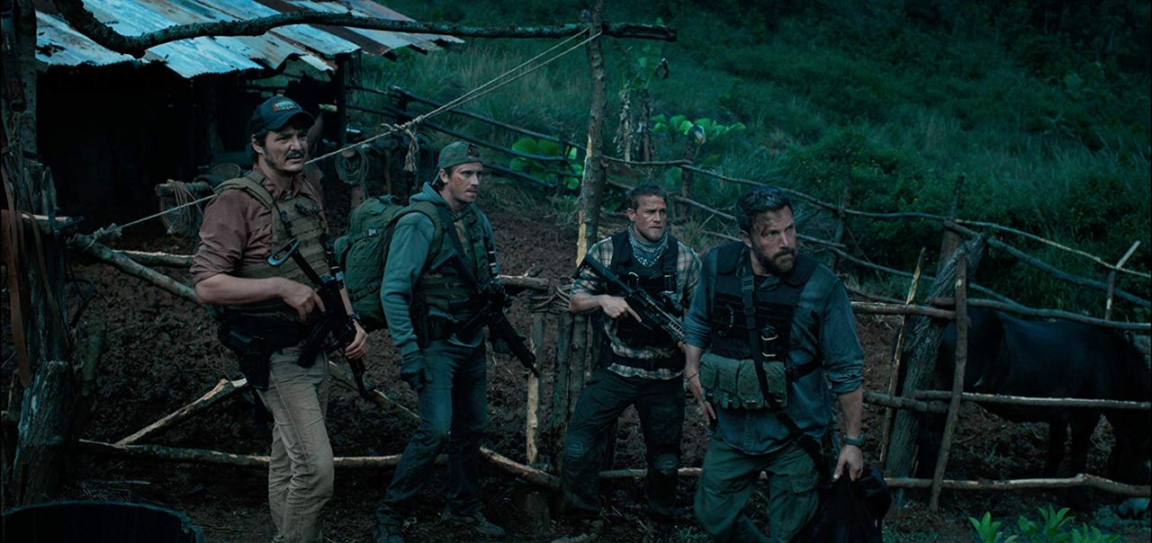 Triple frontera : Foto Ben Affleck, Charlie Hunnam, Garrett Hedlund, Pedro Pascal