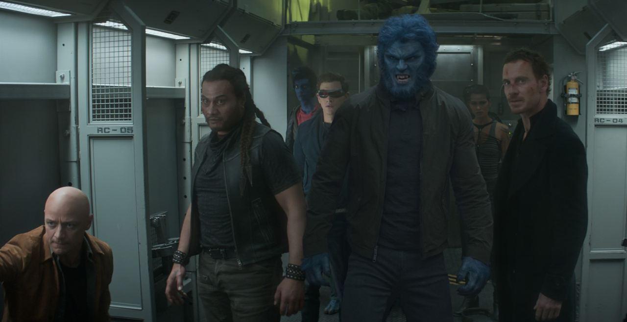 X-Men: Fénix Oscura : Foto Andrew Stehlin, James McAvoy, Kodi Smit-McPhee, Michael Fassbender, Nicholas Hoult