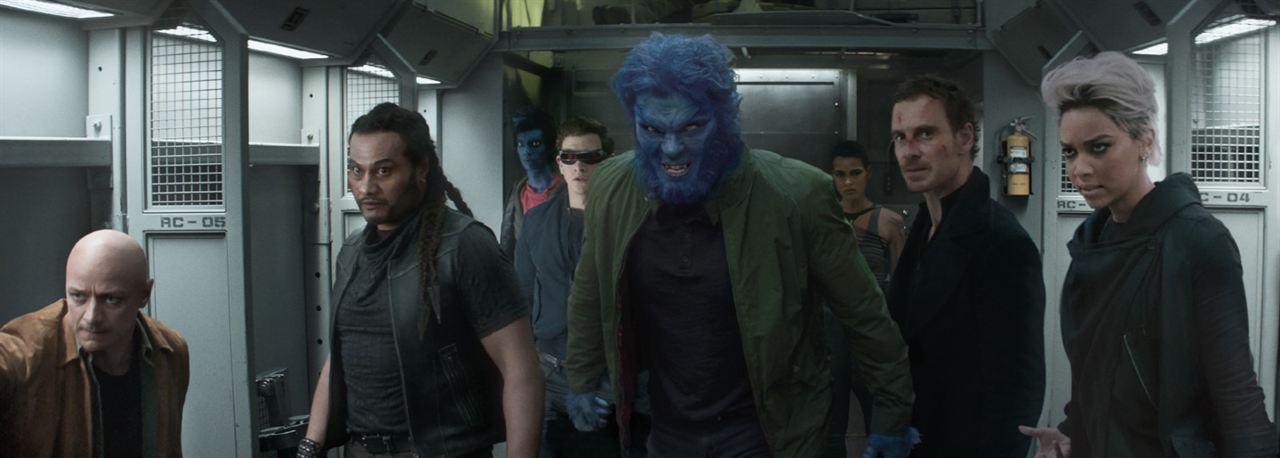 X-Men: Fénix Oscura : Foto Alexandra Shipp, Andrew Stehlin, James McAvoy, Kodi Smit-McPhee, Michael Fassbender