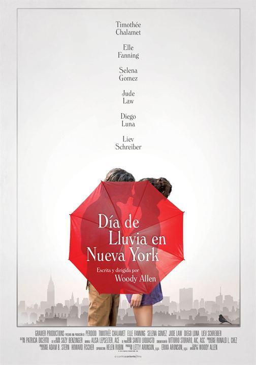 Día de lluvia en Nueva York : Cartel