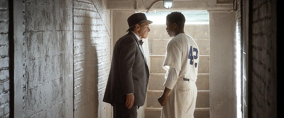 42 : Foto Chadwick Boseman, Harrison Ford