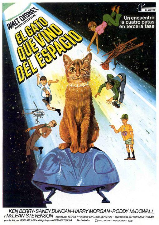 El gato que vino del espacio : Cartel
