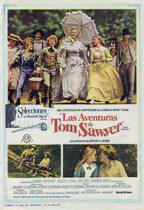 Las aventuras de Tom Sawyer : Cartel