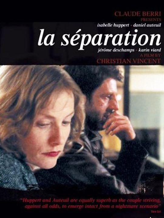 La Separación : Cartel Daniel Auteuil, Estelle Larrivaz, Fred Gélard, Gerard Jumel, Jean-Jacques Vanier