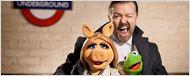 'The Muppets 2': Ricky Gervais se lo pasa bomba en la primera foto oficial