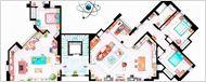 Los planos de los apartamentos de tus series de televisión favoritas