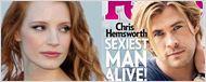 """Jessica Chastain bromea con Chris Hemsworth sobre el título de """"hombre más sexy del mundo"""""""