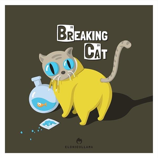 12 de las mejores series y películas representadas por gatos en estas divertidas ilustraciones 1001370